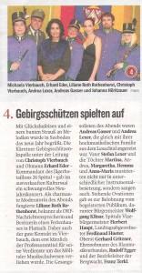 Kleine Zeitung (Oberkärnten)  vom 8. Jänner 2013